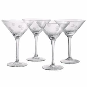 Artland Polka Dot 8 Ounce Martini Glass, Set of 4