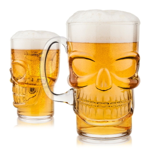 Final Touch Brain Freeze Skull Glass 23.7 Ounce Mug