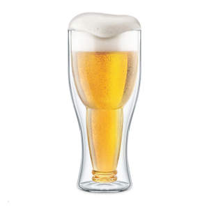 Final Touch Bottoms Up 13.5 Ounce Beer Glass