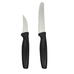 Wusthof Black Carbon Steel 2 Piece Peeling and Serrated Knife Set