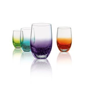 Artland Fizzy Assorted Color 3 Ounce Shot Glass, Set of 4