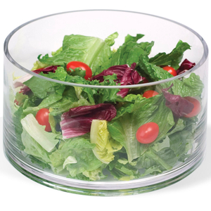 Artland Simplicity Glass Cylinder Salad Serving Bowl