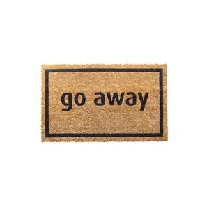 Entryways Black 'Go Away' Hand Woven Coir Sarcastic Doormat