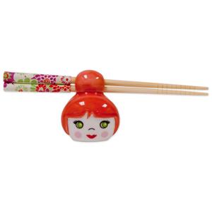 Talisman Designs Cutie Pie Red Chopstick Holder