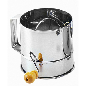 Norpro Mirrored Stainless Steel Flour Sifter, 3 Cup