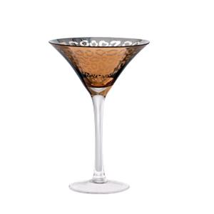Artland Leopard Bronze Gold 8 Ounce Martini Glass
