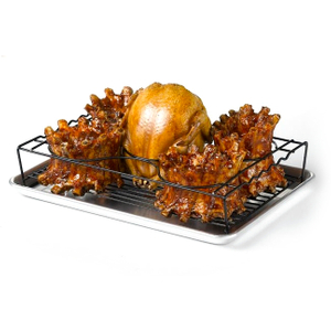 Nifty Home Products Non-Stick Barbecue Rib and Poultry Rack