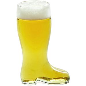 Stolzle Bierstiefel Single Liter Glass Beer Boot, Set of 6