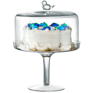 Artland Songbird Pedestal Cake Stand With Dome, 13 Inch