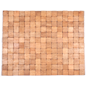 Entryways Mather Brown Exotic Rubberwood Mat, 18 X 30 Inch
