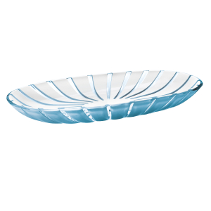 Guzzini Grace Sea Blue 15 x 7.5 Inch Serving Tray