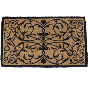 Entryways Iron Grate 18x30 Inch Extra-Thick Hand Woven Coconut Fiber Doormat