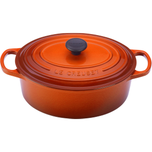 Le Creuset Signature Flame Enameled Cast Iron Oval French Oven, 5 Quart