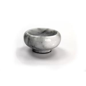 RSVP White Marble Herb and Salt Bowl