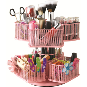 Nifty Home Products Pink Make-Up Carousel