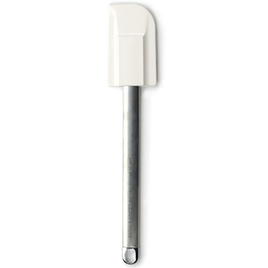 RSVP Medium White Silicone Spatula with Stainless Steel Handle