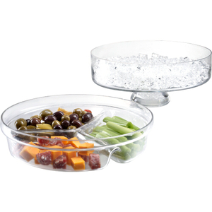 Artland Simplicity 2 Piece Glass Chilled Server