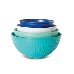 Nordic Ware 4 Piece Coastal Blue Prep and Serve Mixing Bowl Set
