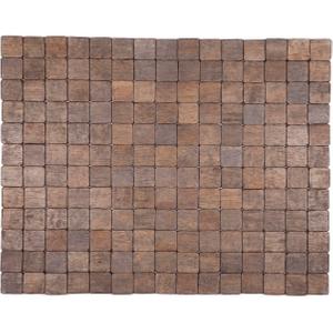 Entryways Mather Black Exotic Rubberwood Mat, 18 X 30 Inch