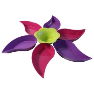 Zak Designs Table Art Magenta Flower 7 Piece Serving Set