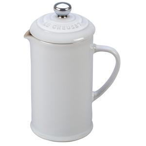 Le Creuset White Stoneware 12 Ounce Petite French Press