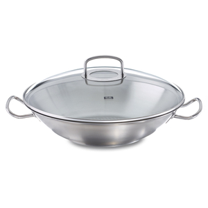 Fissler Original Profi Collection 13.8 Inch Wok with Glass Lid