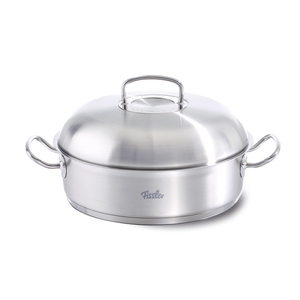 Fissler Original Profi 18/10 Stainless Steel 5.1 Quart Round Roaster with Domed Lid