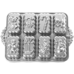 Nordic Ware Platinum Bakeware Holiday Mini Loaf Pan
