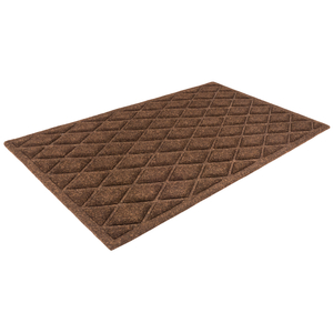 Entryways 18x30 Inch Chocolate Diamonds Weather Beater Polypropylene Mat