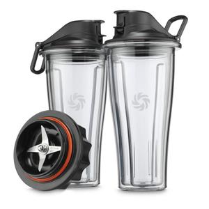 Vitamix 20 Ounce Blending Cups Starter Kit for Ascent Series