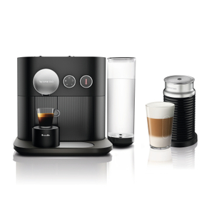 Nespresso by Breville Black Expert & Milk Espresso Maker with Aeroccino3 Milk Frother Bundle
