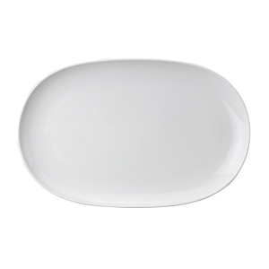 Harold Import Co. White Porcelain 14.25 x 9.25 Inch Oval Platter