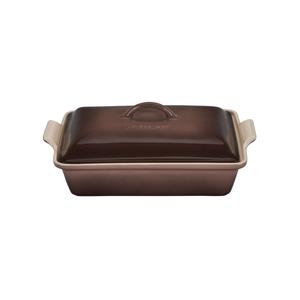 Le Creuset Heritage Truffle Stoneware Covered 4 Quart Rectangular Casserole Dish