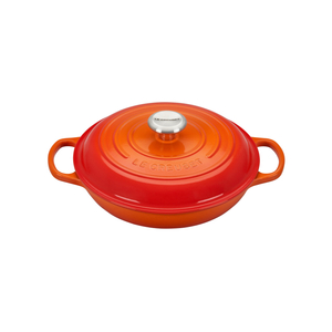 Le Creuset Signature Flame Covered Brasier with Stainless Steel Knob