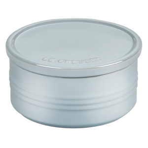 Le Creuset Metallic Coastal Blue Enameled Stoneware 23 Ounce Canister with Lid