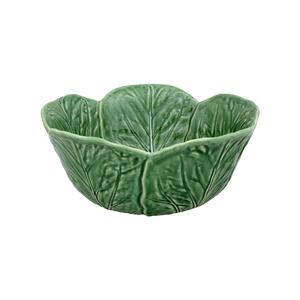 Bordallo Pinheiro Green Earthenware Tall Cabbage Salad Bowl