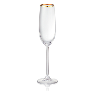 Artland Gold Band 8 Ounce Champagne Flute