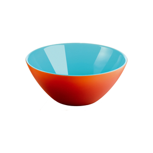 Guzzini My Fusion Sea Blue and Orange Acrylic 9.8 Inch Bowl