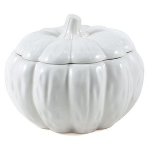 Summit White Ceramic Pumpkin Soup Bowl, 3 Cup