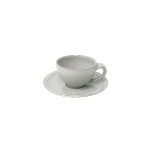 Costa Nova Friso Grey Coffee Cup and Saucer, Set of 6