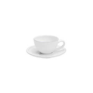 Costa Nova Friso White Coffee Cup and Saucer, Set of 6