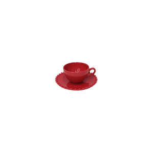 Costa Nova Pearl Rubi Coffee Cup and Saucer, Set of 6
