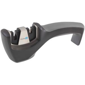 Smith's KitchenIQ Black Carbide and Ceramic Pull-Thru Knife Sharpener
