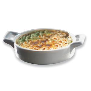 Revol Belle Cuisine White Porcelain Miniature Oval 1 Ounce Creme Brulee Dish