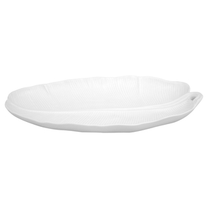 Bordallo Pinheiro White Banana Leaf Earthenware Platter