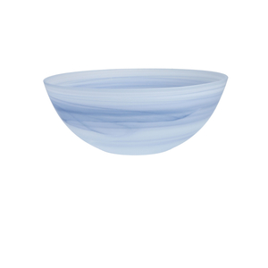 D&V La Jolla Ink Blue Glass Serving Bowl