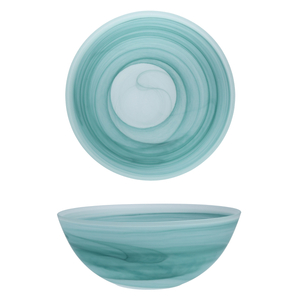 D&V La Jolla Sage Green Glass Serving Bowl