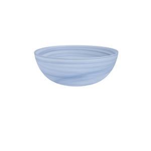 D&V La Jolla Ink Blue Glass Large Salad Bowl