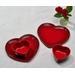 Le Creuset Stoneware Cerise 10 Ounce Heart Ramekins, Set of 2