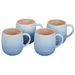 Le Creuset Cafe Collections Enameled Stoneware Coastal Blue 13 Ounce Mug, Set of 4